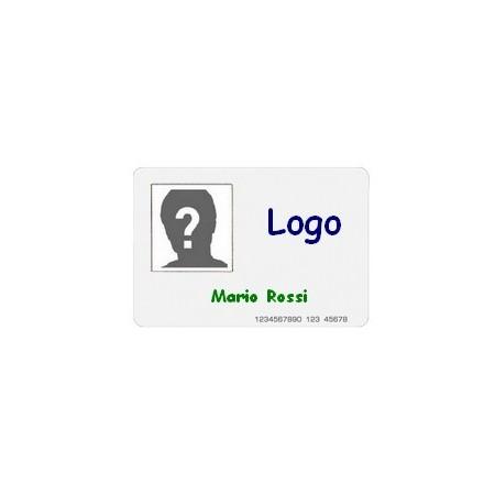 Kit 20 Tessere RFID Personalizzate con logo, dati e foto su singola faccia