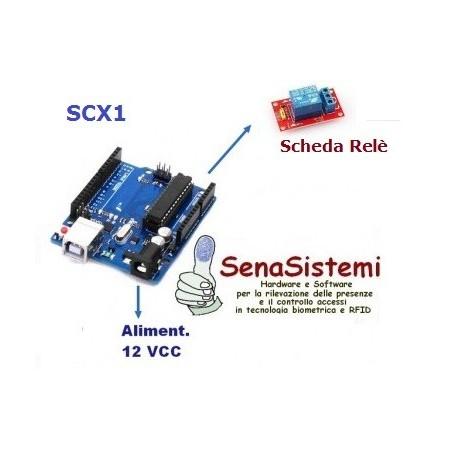 SCX011 Modulo Apriporta per lettori con uscita Wiegand26