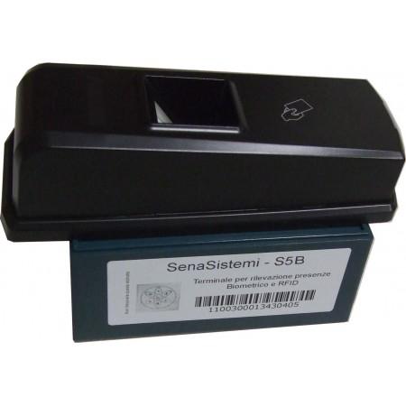 S5-Box Rilevatore presenze e Controllo Accessi Portatile con Lettore Card RFID ed Impronta Digitale