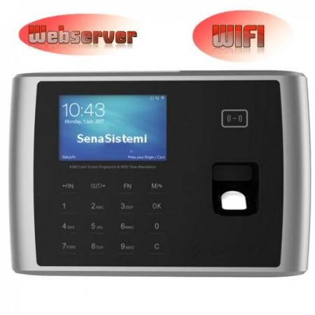 S380 Rilevatore Presenze e Controllo Accessi WIFI, Biometrico e RFID con webserver integrato
